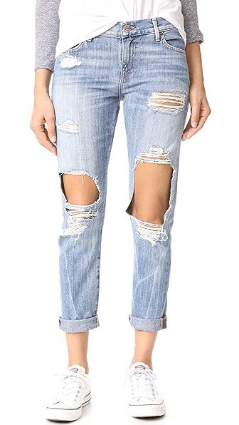 True Religion Потрепанные облегающие джинсы-бойфренды Cameron