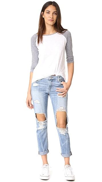 True Religion Cameron Distressed Slim Boyfriend Jeans