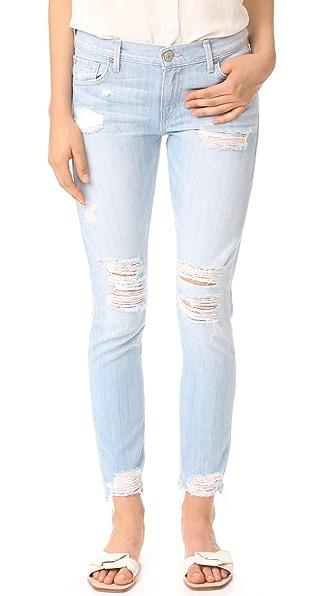 True Religion Cameron Slim Boyfriend Jeans - Aquaholic