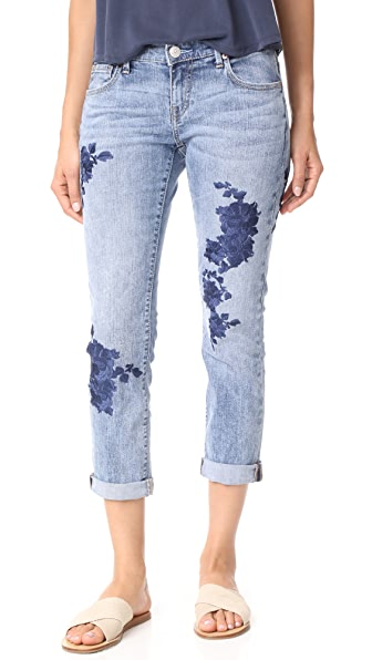 True Religion Cameron Slim Boyfriend Jeans - Aquarius Blues