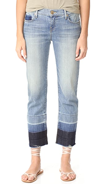 True Religion Mid Rise Relaxed Straight Jeans - Moondance
