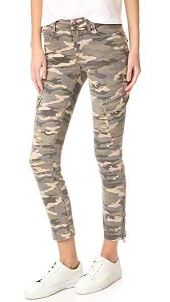 True Religion Halle Mid Rise Cargo Pants