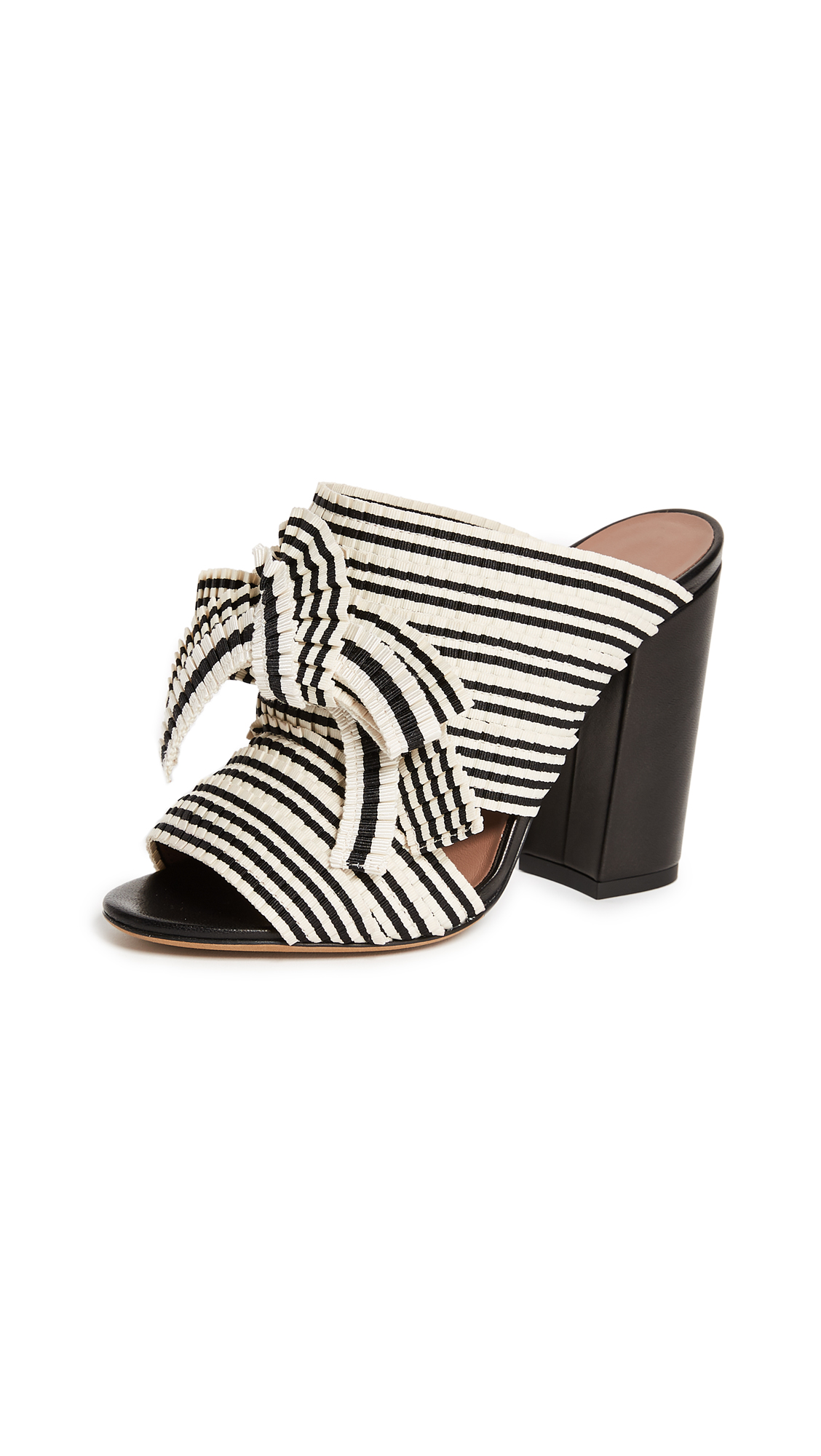 Tabitha Simmons Beau Mule Sandal Pumps - Black/White