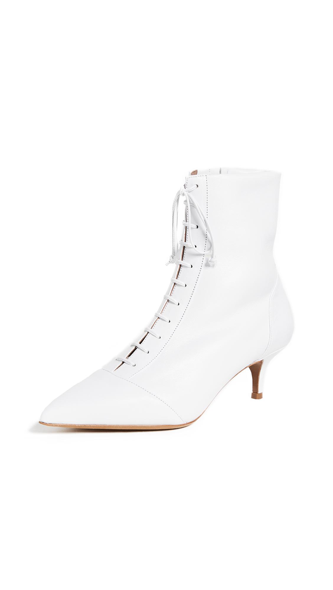 Tabitha Simmons Emmet Kitten Heel Booties - White