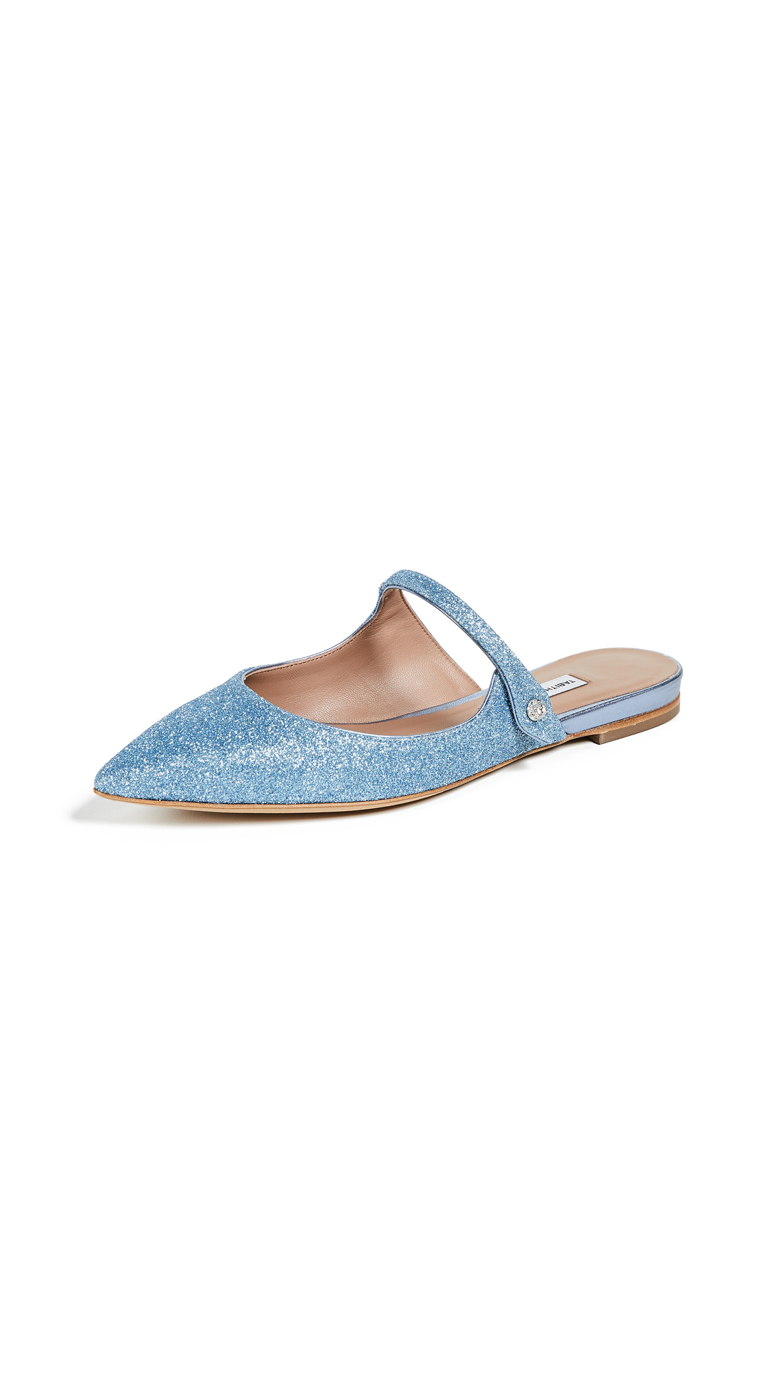 Tabitha Simmons Kittie Ballet Mule Flats - Light Blue