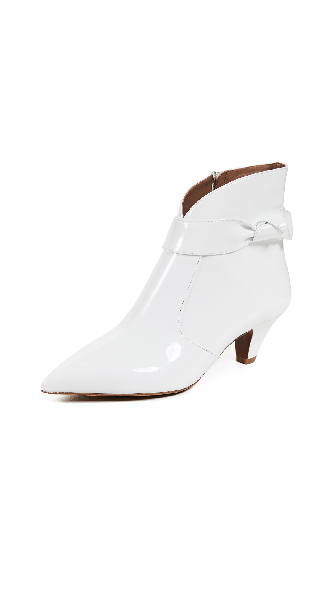 Tabitha Simmons Nixie Patent Booties - White