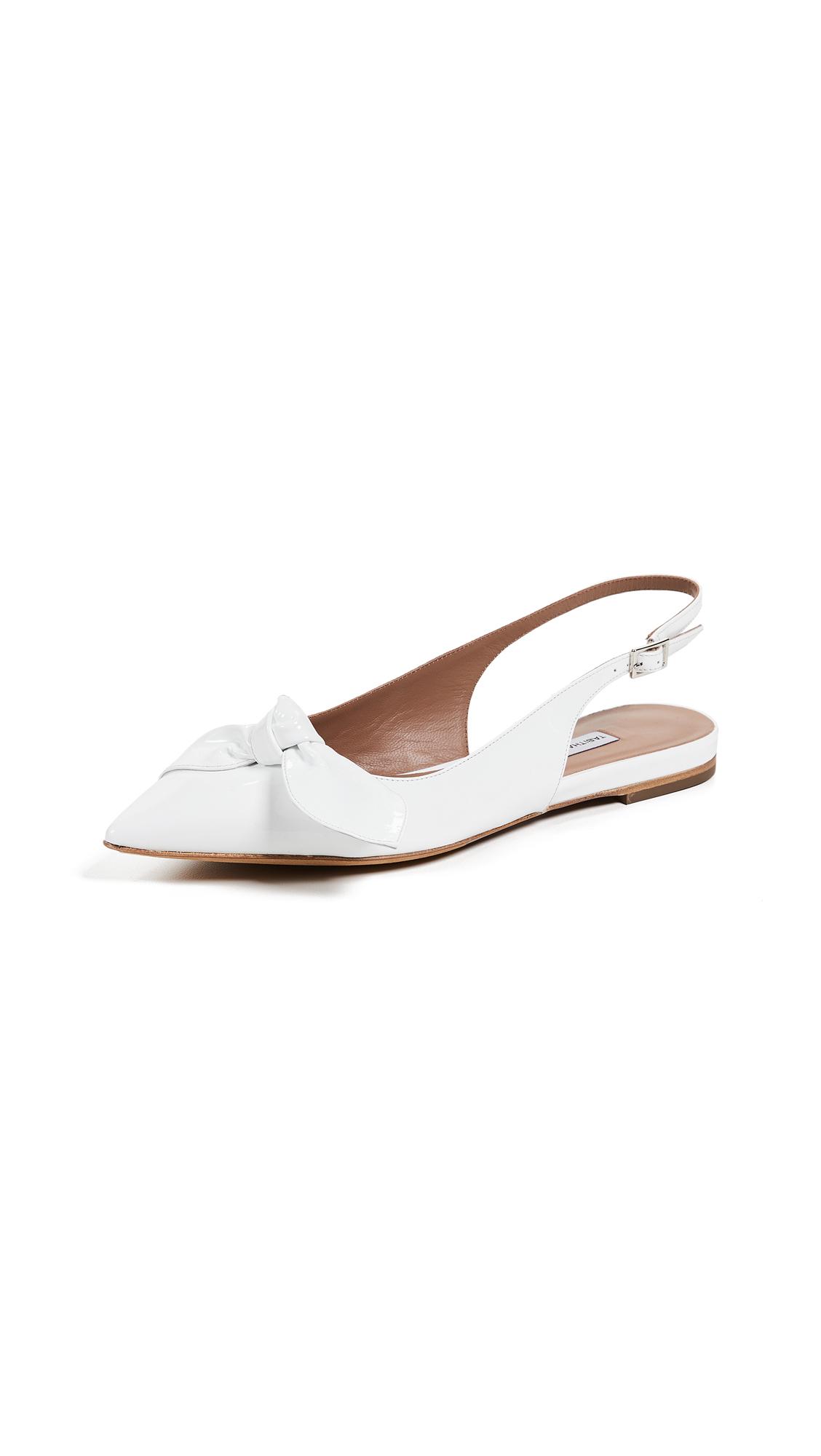 Tabitha Simmons Knotty Slingback Flats - White