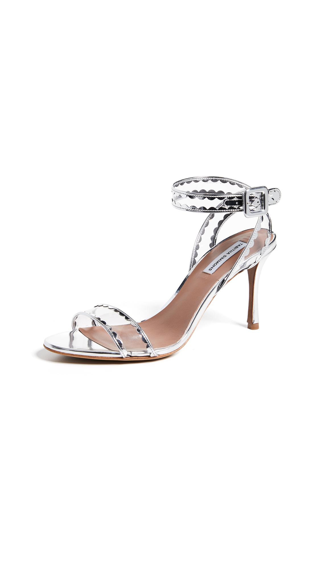 Tabitha Simmons Lissa Frill Heels - Silver