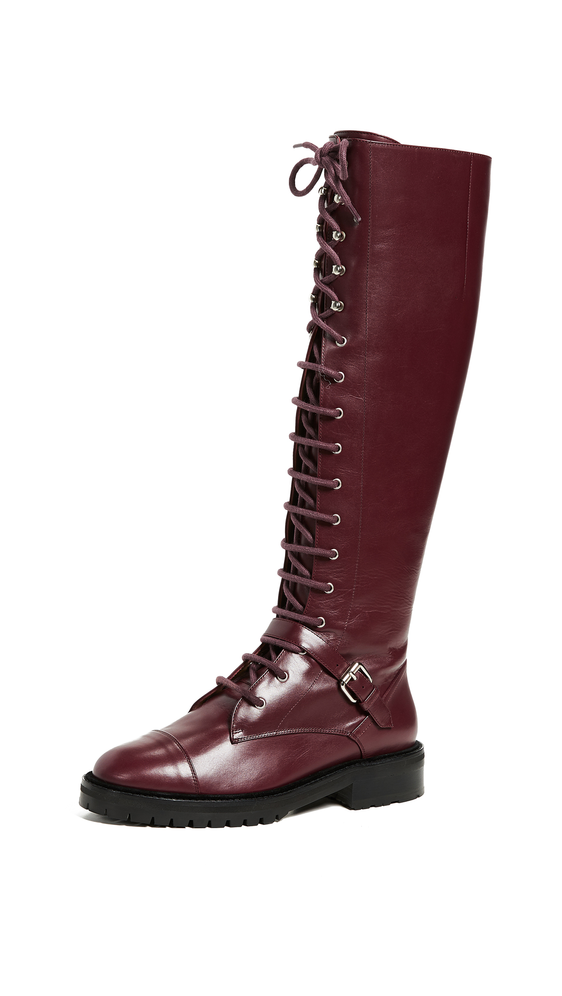 Tabitha Simmons Alfri Knee High Lace Up Boots