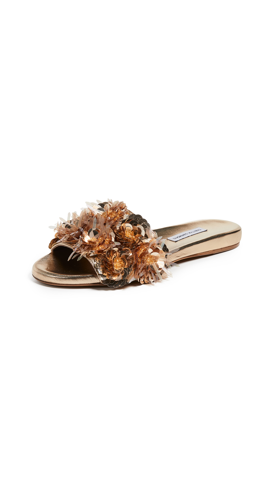 Tabitha Simmons Lynny Slide Sandals - Gold