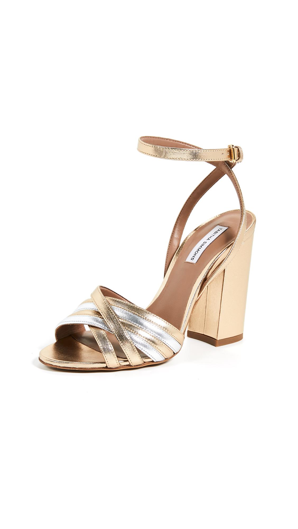 Tabitha Simmons Toni Sandals - Gold/Silver