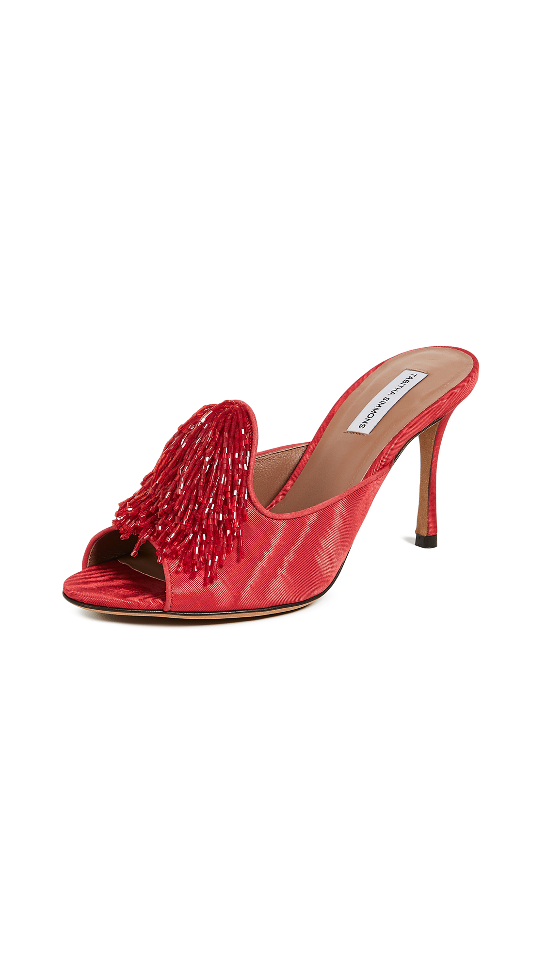 Tabitha Simmons Pammy Beaded Mules - Red