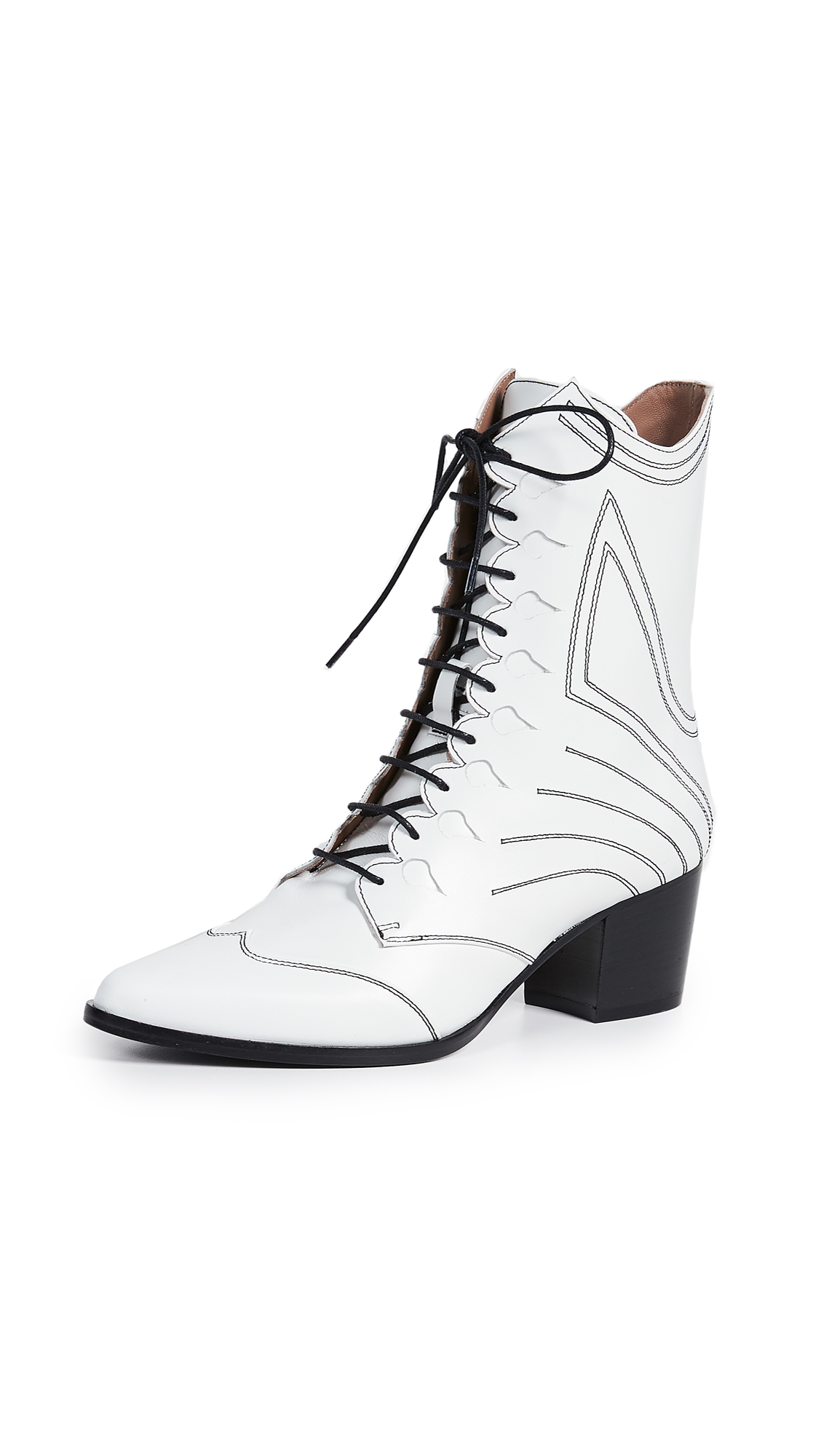 Tabitha Simmons Swing Boots - White