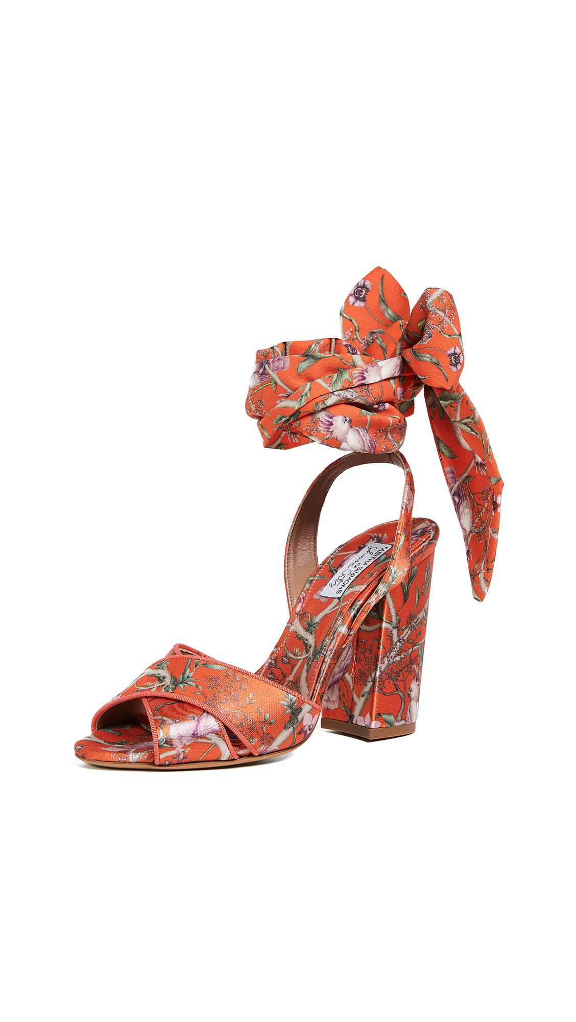 Tabitha Simmons x Johanna Ortiz Connie Wrap Sandals - Red Multi