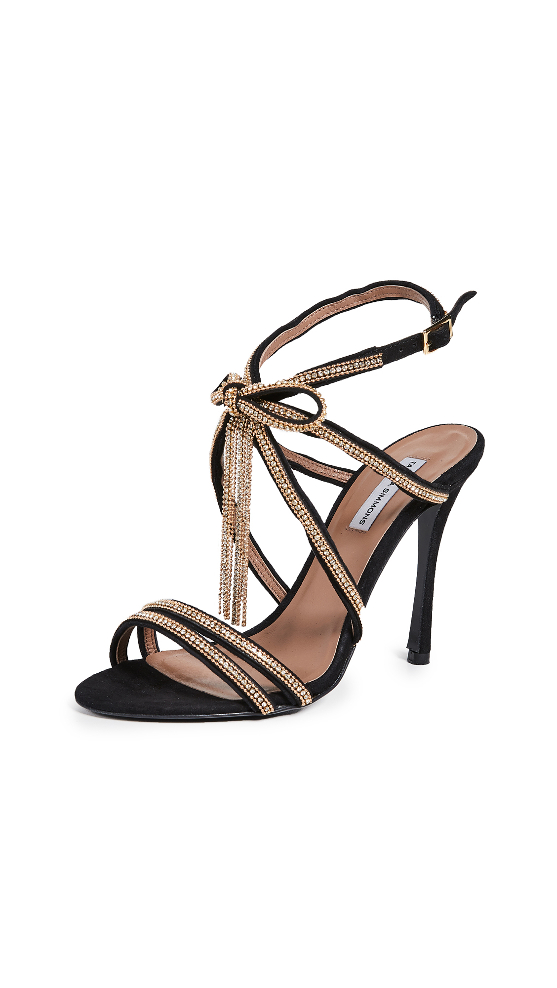 Tabitha Simmons Iceley Sandals - Black/Gold Strass Chain