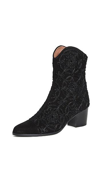 Tabitha Simmons Wyatt Medallion Boots