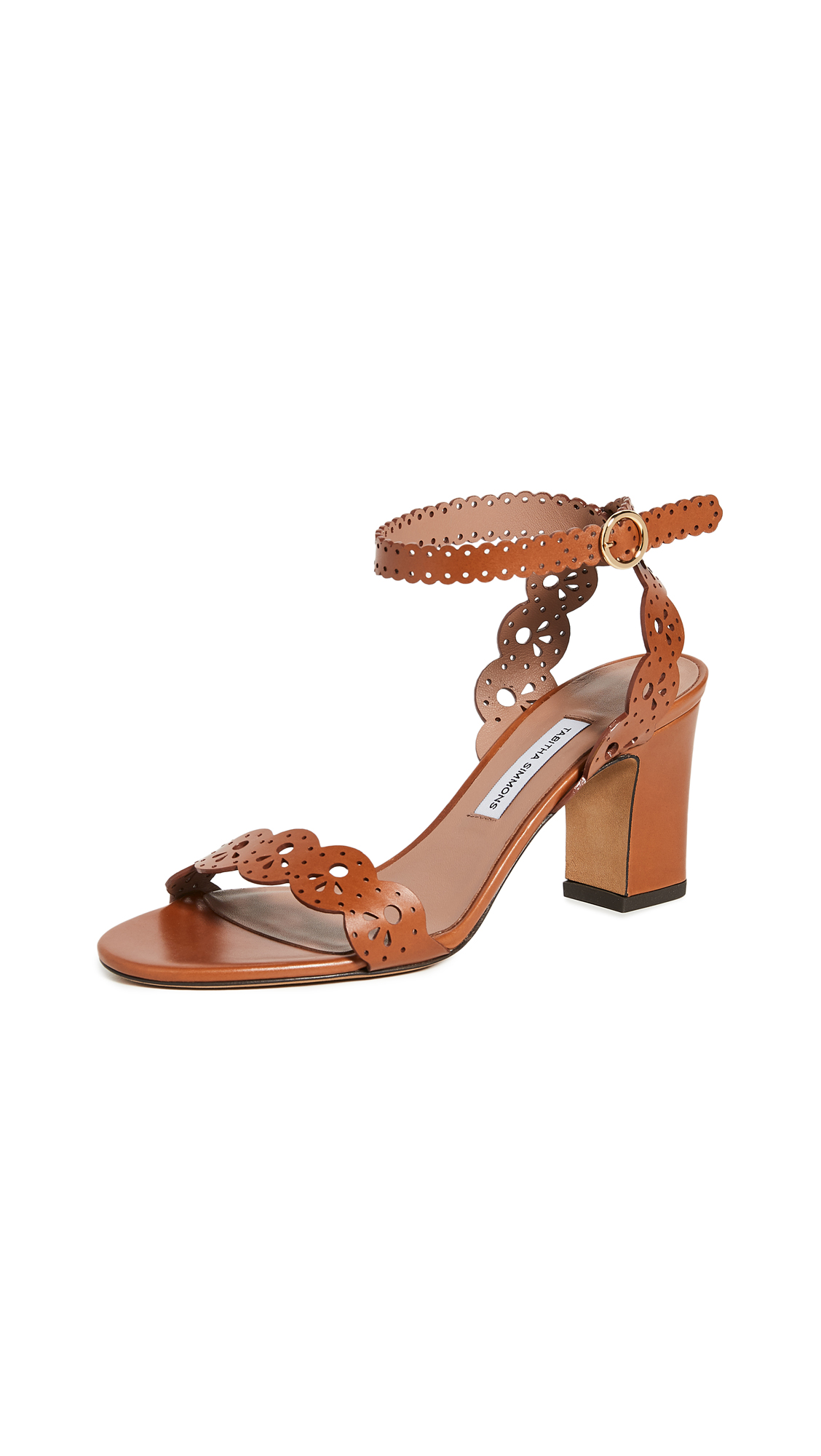 Buy Tabitha Simmons Bobbin Block Sandals online, shop Tabitha Simmons