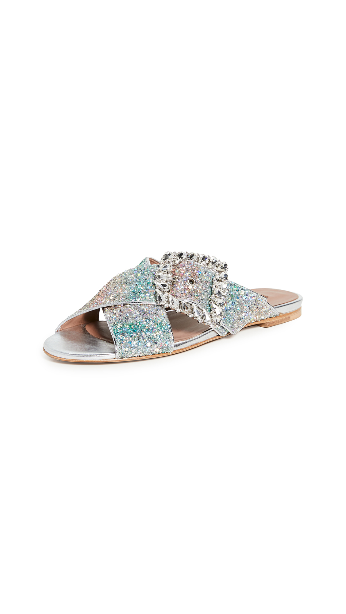 Tabitha Simmons Leni Crystal Slides - 60% Off Sale