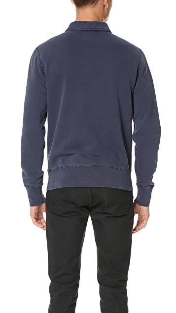 Todd Snyder + Champion Fleece Mock Zip Sweatshirt
