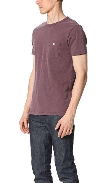 Todd Snyder Weathered Button Pocket Crew Tee