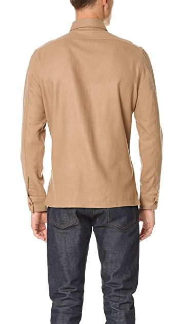 Todd Snyder Woven Camel Shirt Jacket