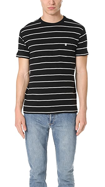 Todd Snyder Thick Stripe Classic Pocket Tee