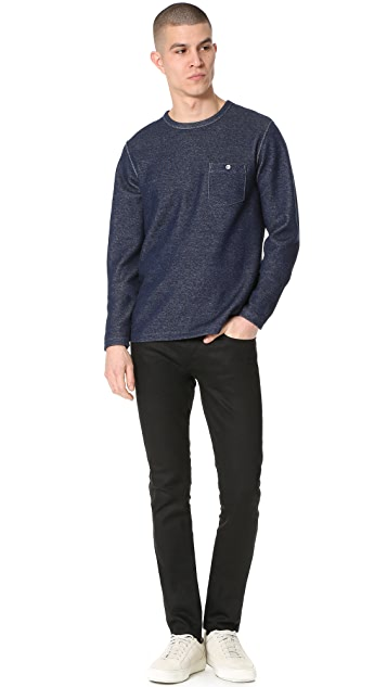 Todd Snyder Long Sleeve Crew Neck Sweatshirt with Pocket