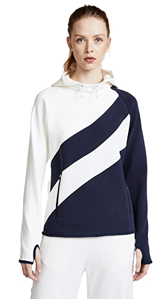 Tory Sport Reflective Performance Hoodie In Tory Navy