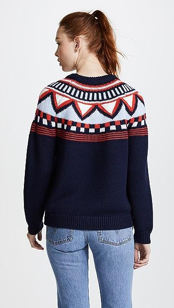 Tory Sport Performance Merino Fairisle Sweater