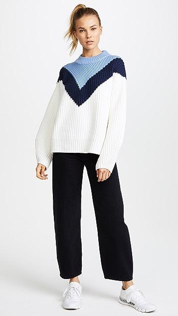 Tory Sport Chevron Mock Neck Sweater