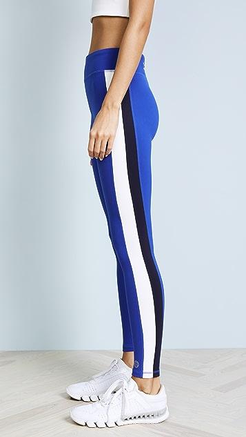 Tory Sport Colorblock Side Stripe Leggings