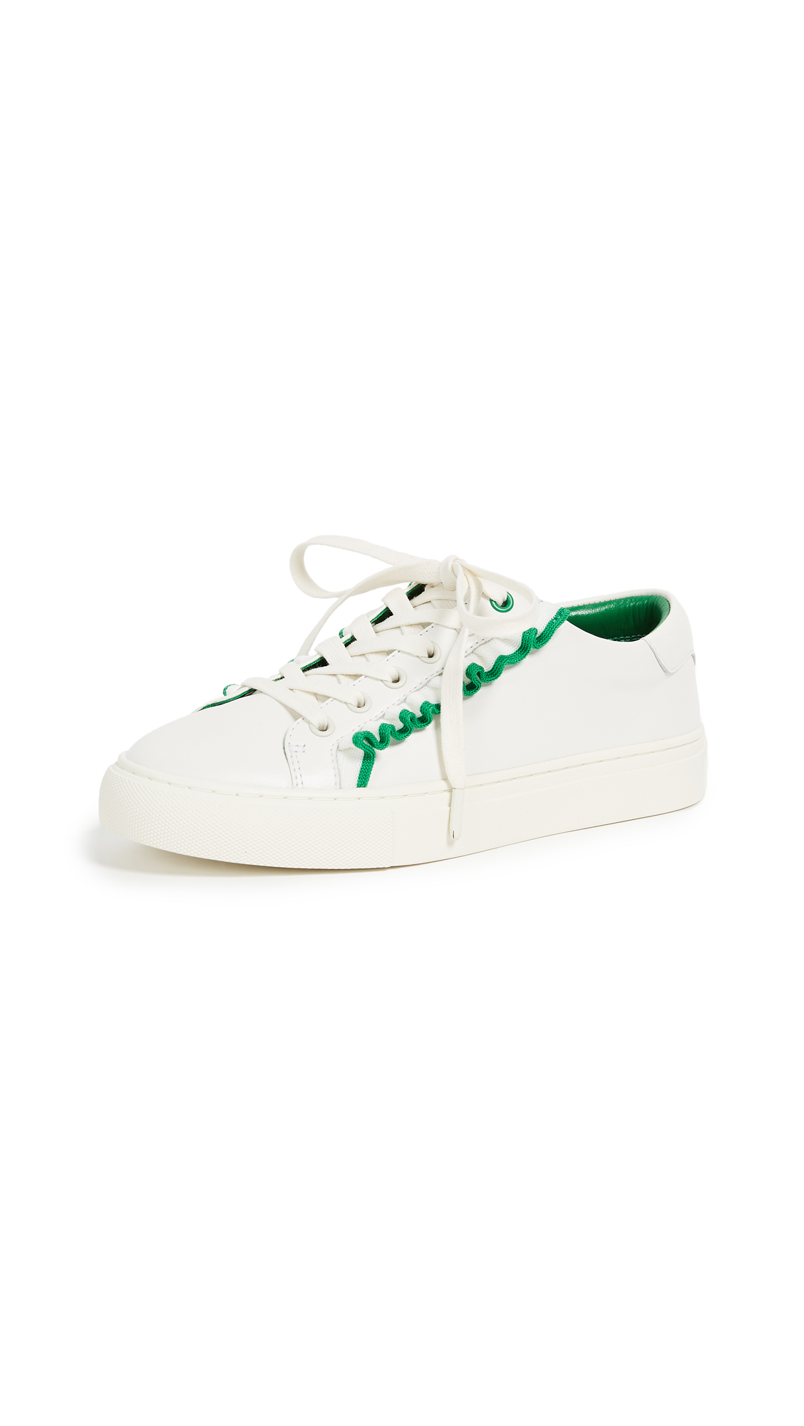 Tory Sport Ruffle Sneakers - Snow White/Vineyard