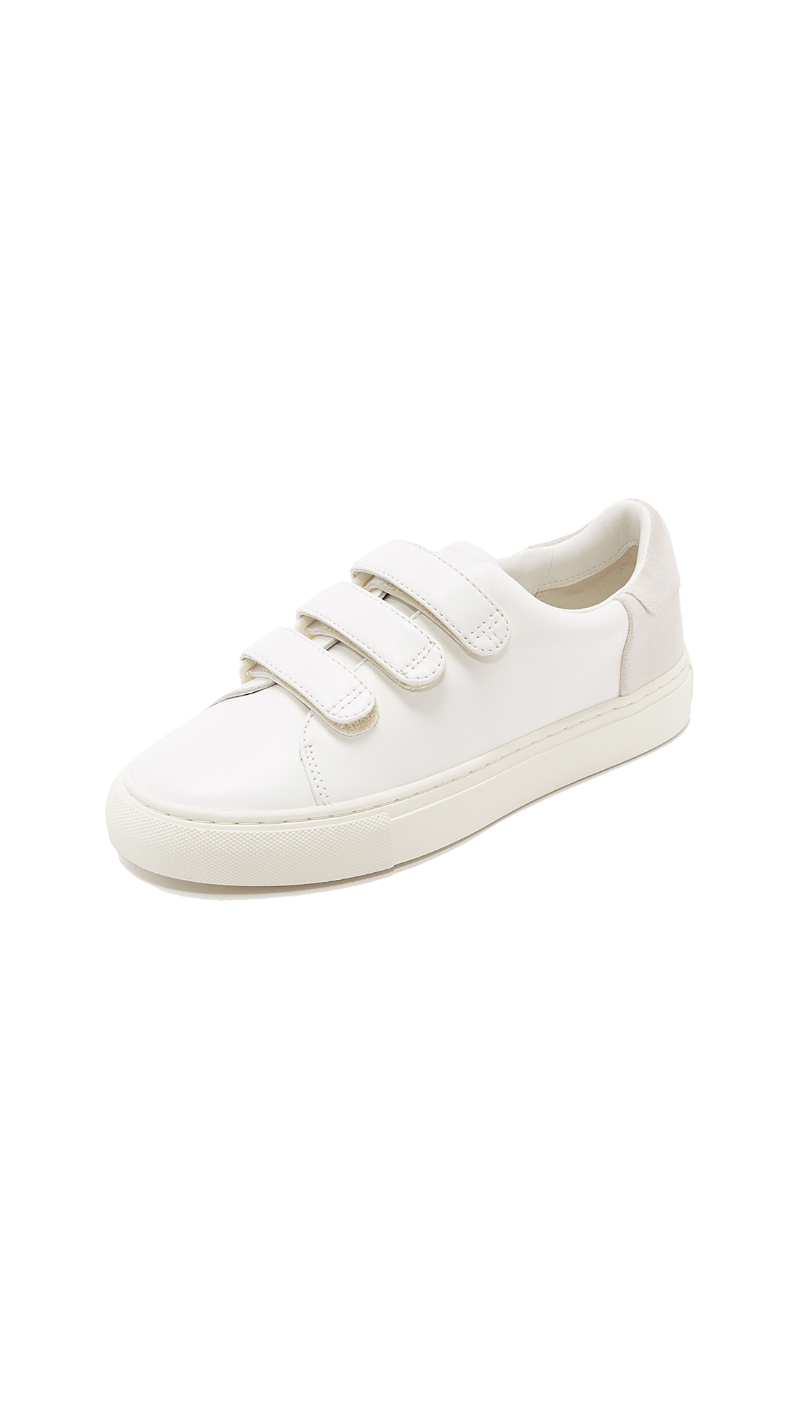 Tory Sport Colorblock Velcro Sneakers - Snow White/Off White