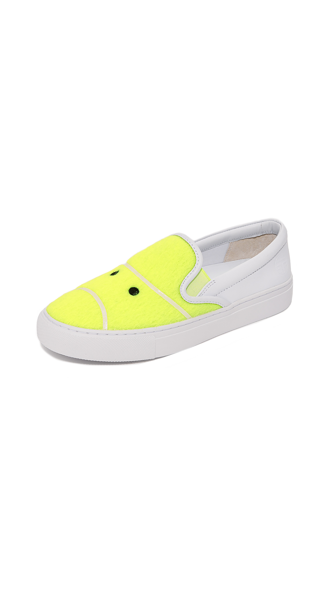 Tory Sport Tennis Felt Sneakers - Fluo Yellow/Snow White