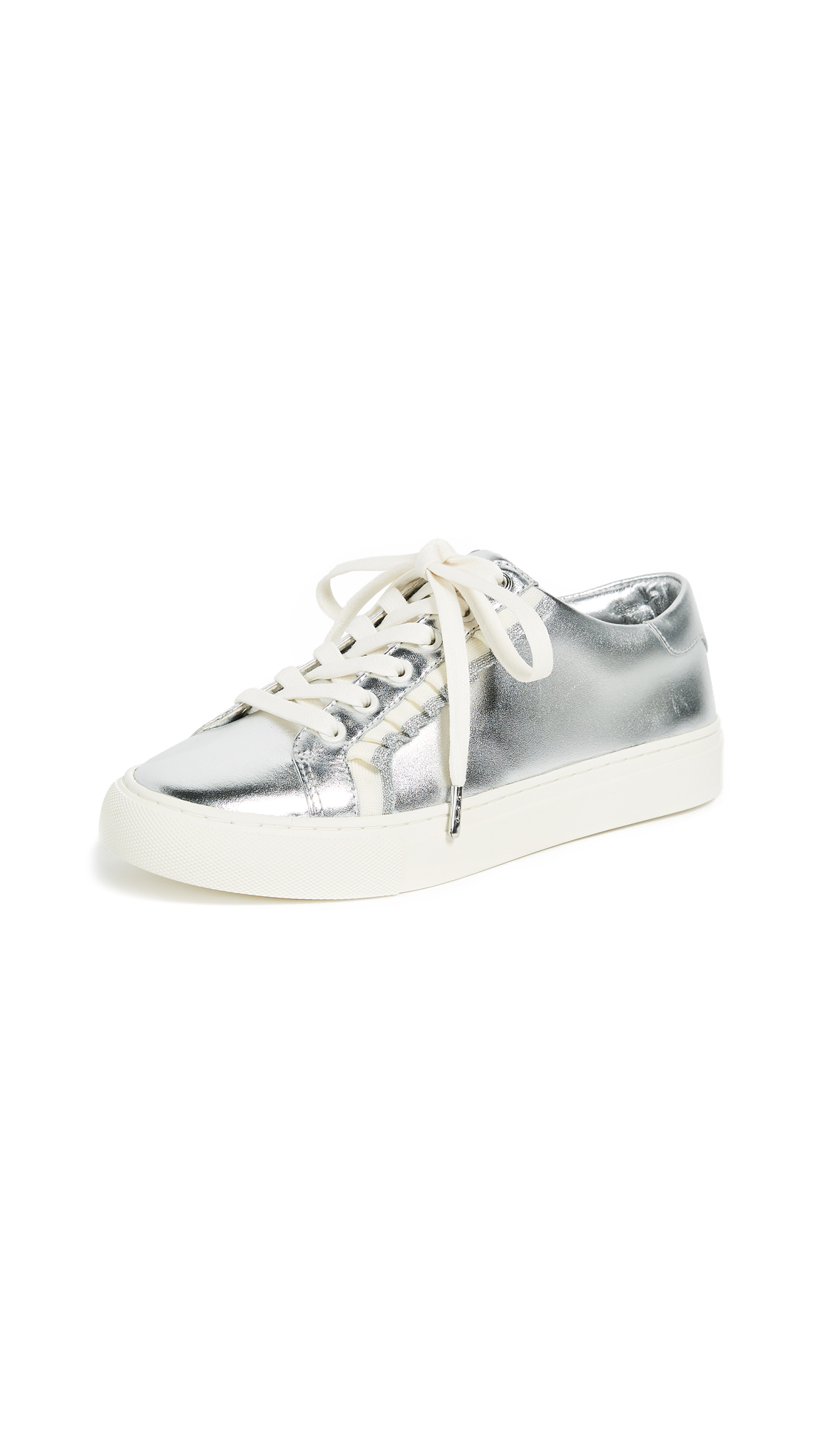 Tory Sport Ruffle Sneakers - Silver/White