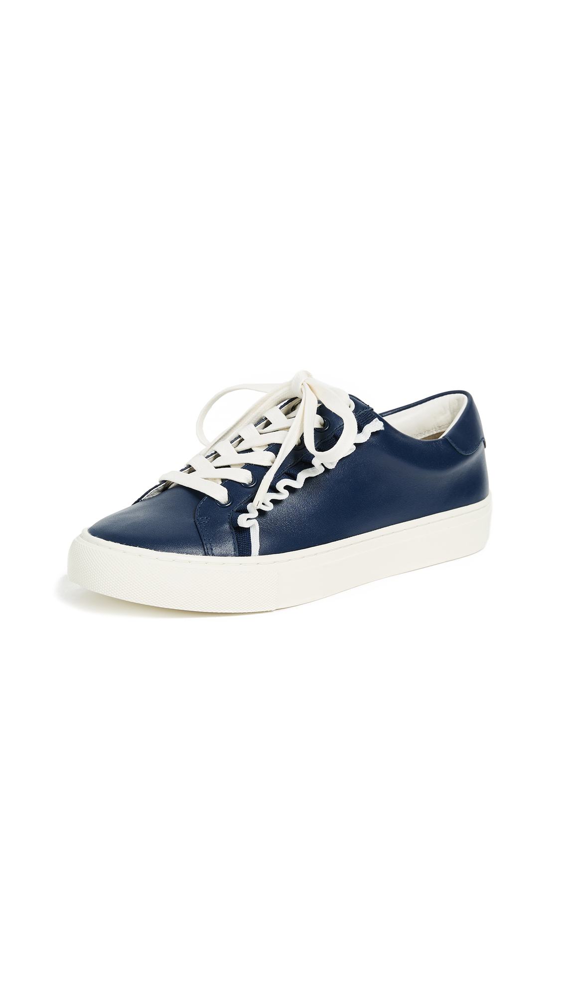 Tory Sport Ruffle Sneakers - Navy Sea/Snow White