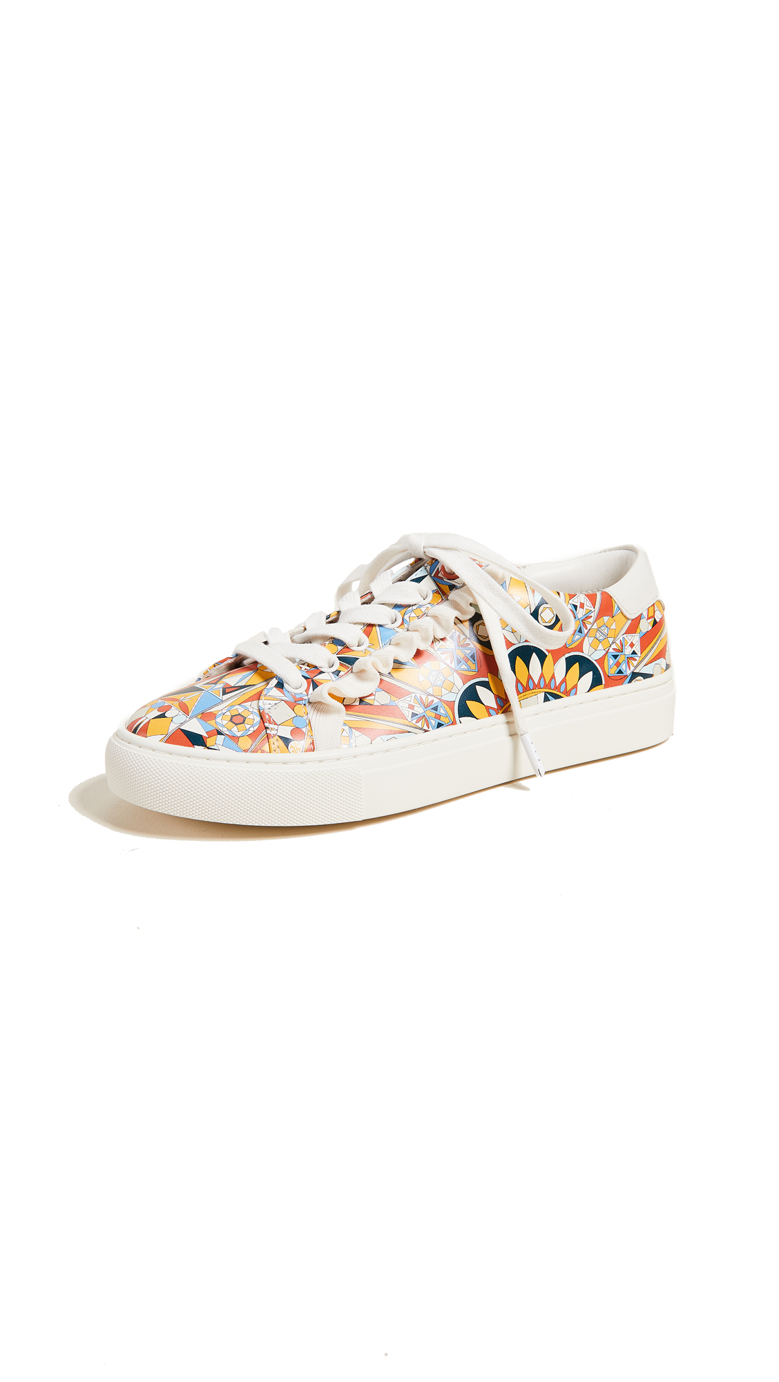 Tory Sport Ruffle Sneakers - Psychedelic Geo/Perfect Ivory