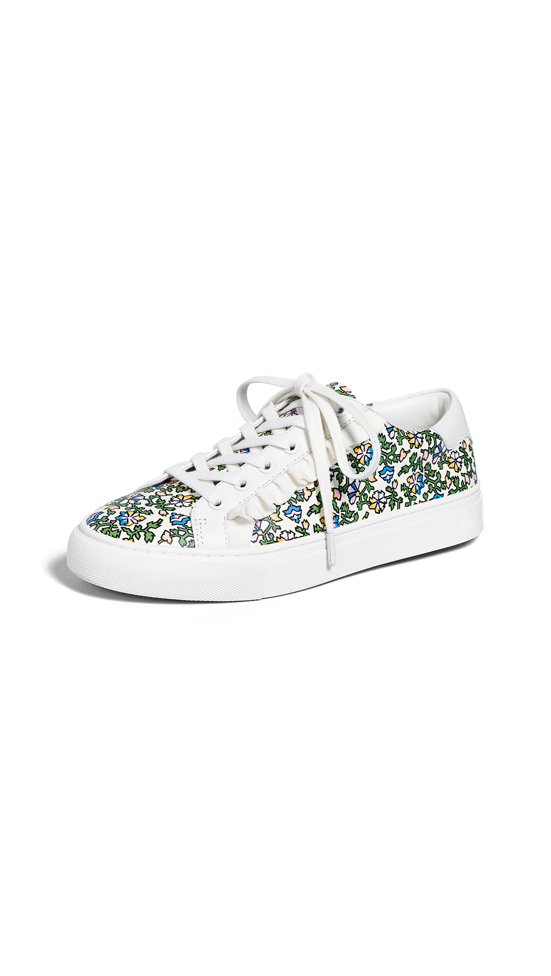 Tory Sport Ruffle Sneakers - Wild Pansy/New Ivory