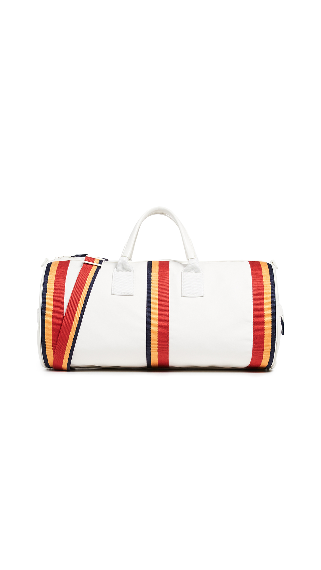 Tory Sport Retro Striped Weekender Duffel Bag - Ivory Pearl