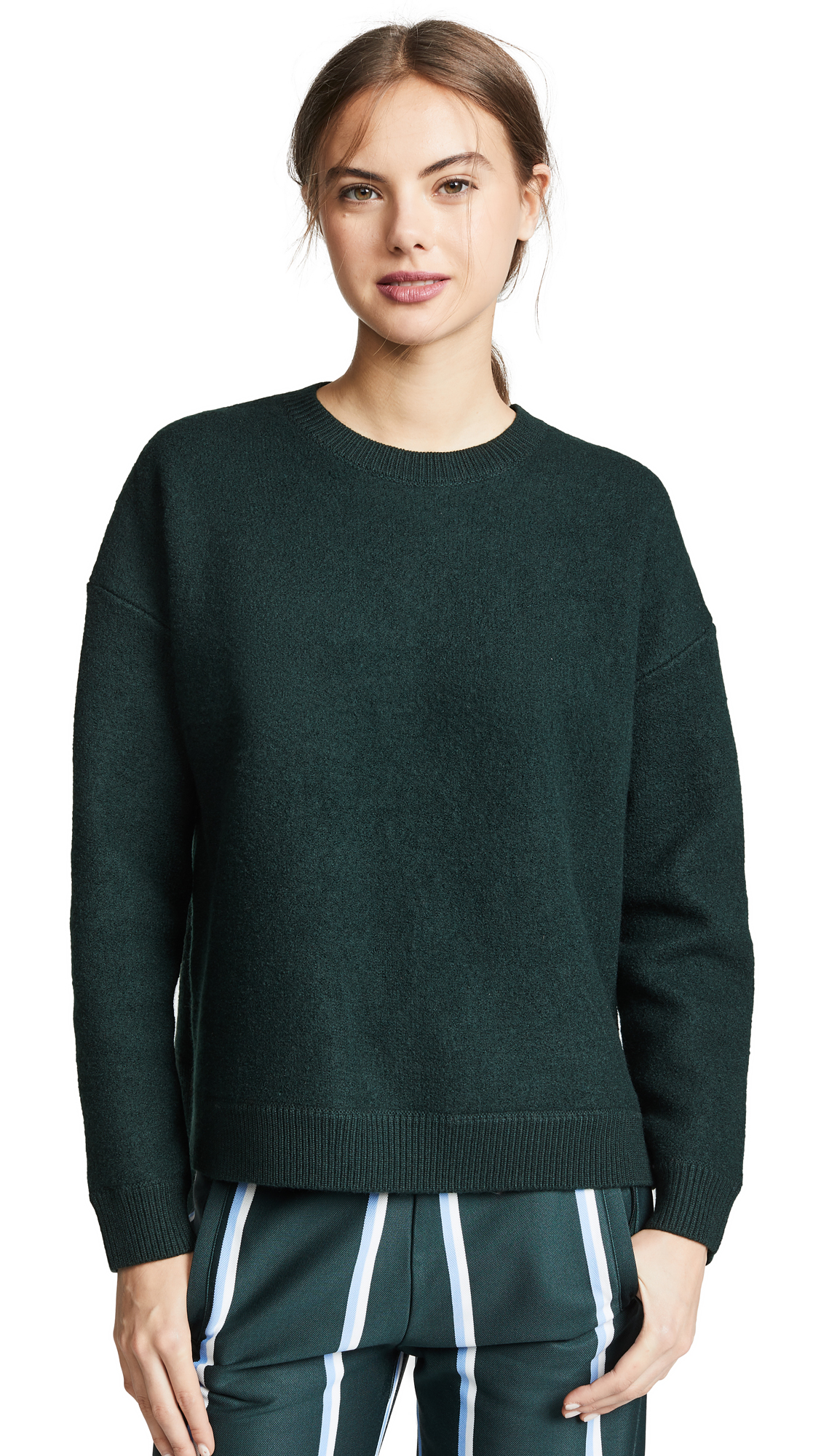 Tory Sport Droptail Pullover In Conifer