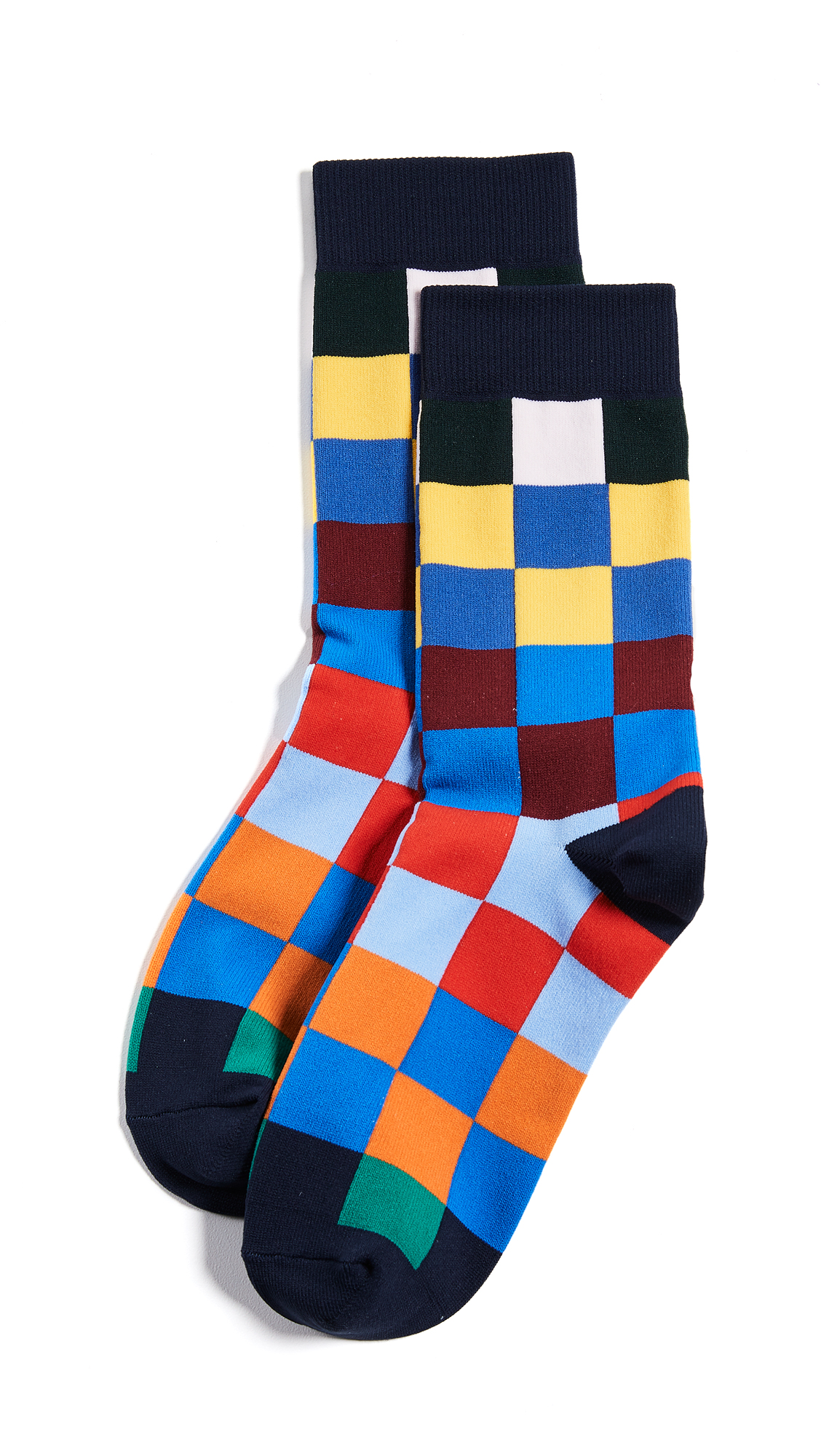 Tory Sport Checker Socks In Multi
