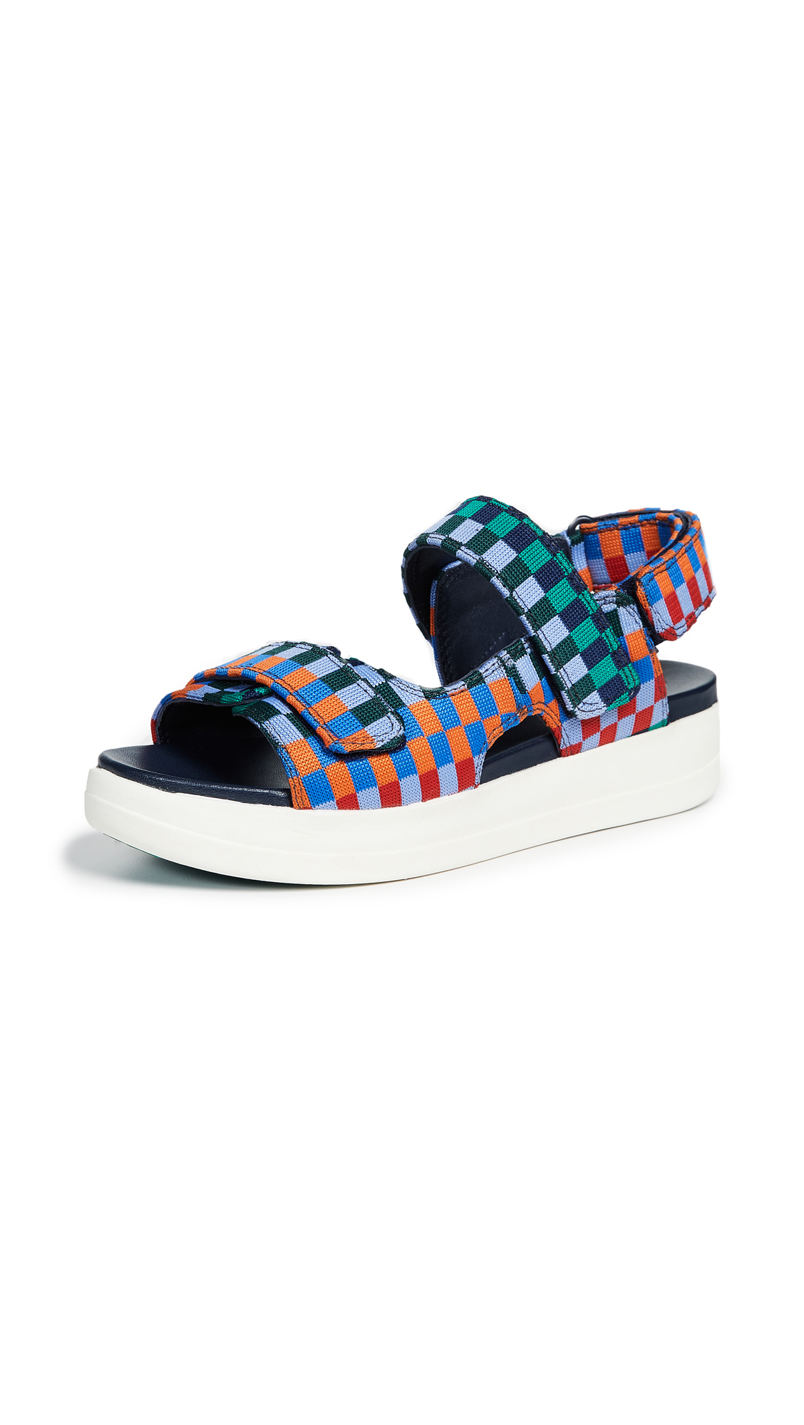 Tory Sport Check Print Flatform Sandals - Multi Check