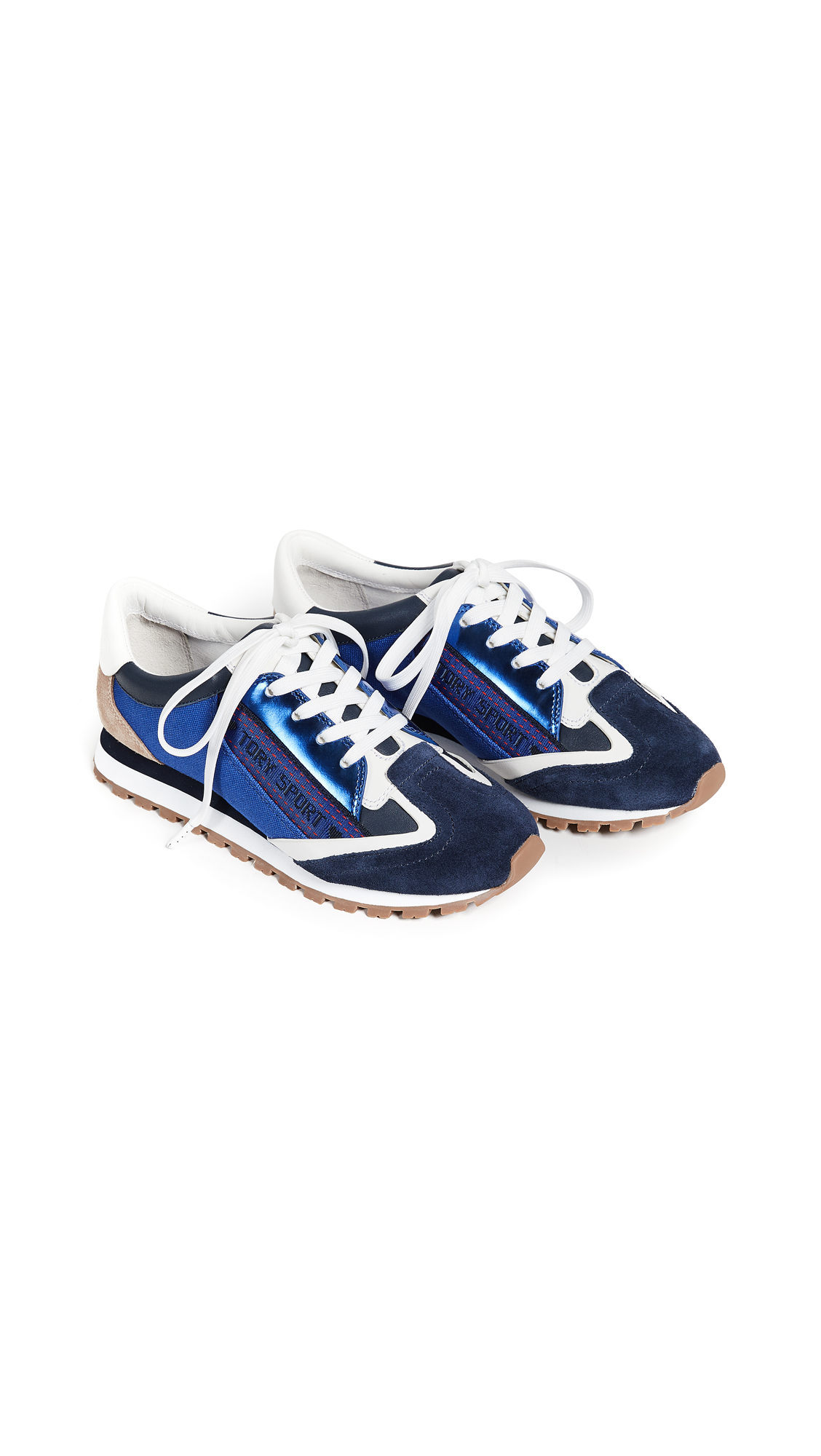 Tory Sport Banner Trainer Sneakers - Bright Navy/Slalom Blue