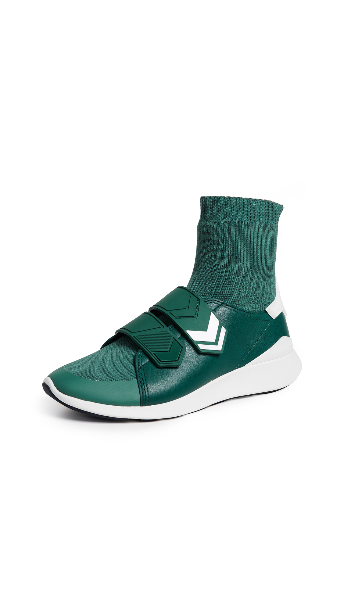 Tory Sport Chevron Strap Sock Sneakers - Conifer