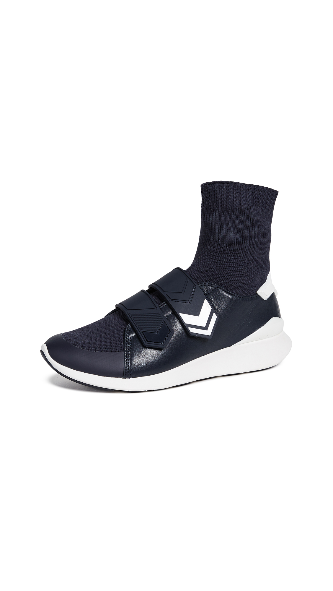 Tory Sport Chevron Strap Sock Sneakers - Perfect Navy
