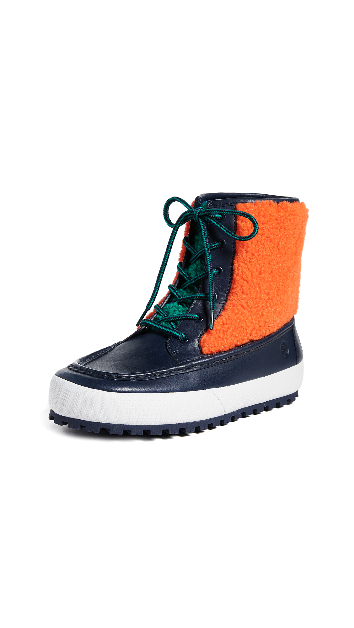 Tory Sport Moccasin Boots - Bright Navy/Multi