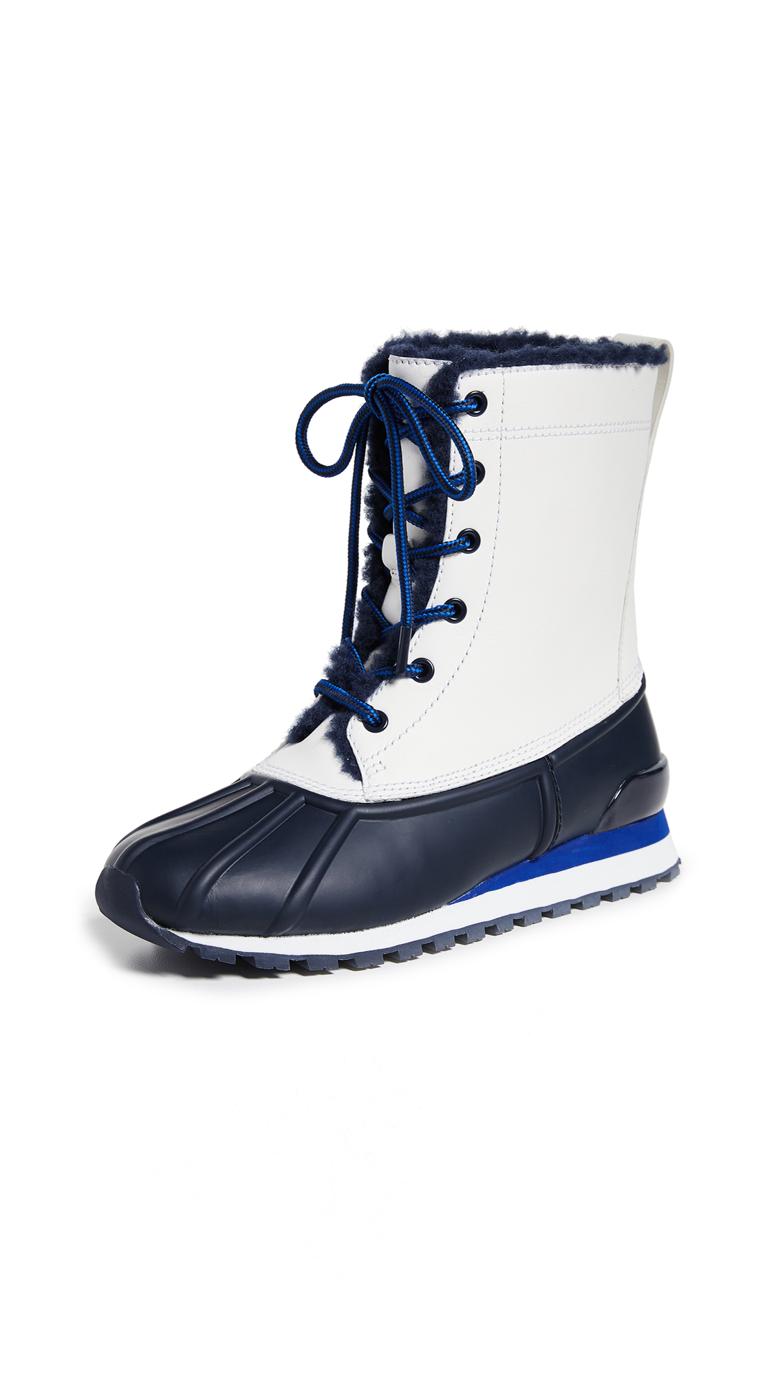 Tory Sport Duck Boots - Bright Navy/Snow White