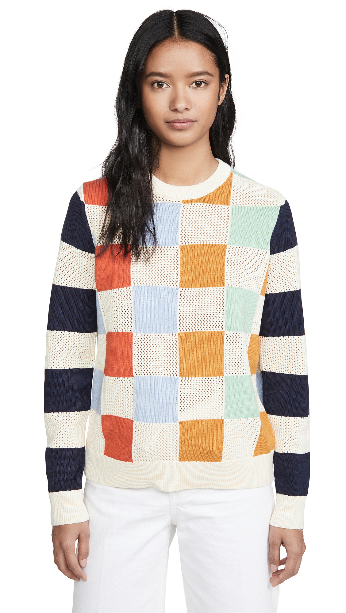 Buy Tory Sport online - photo of Tory Sport Checkered Pullover Sweater