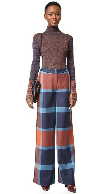 Tanya Taylor Blanket Plaid Ashland Pants