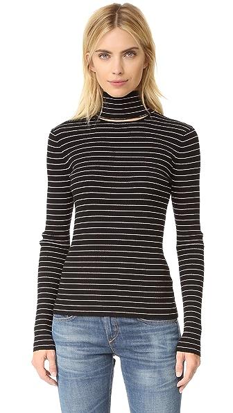 Tanya Taylor Stripe Rib Lia Sweater